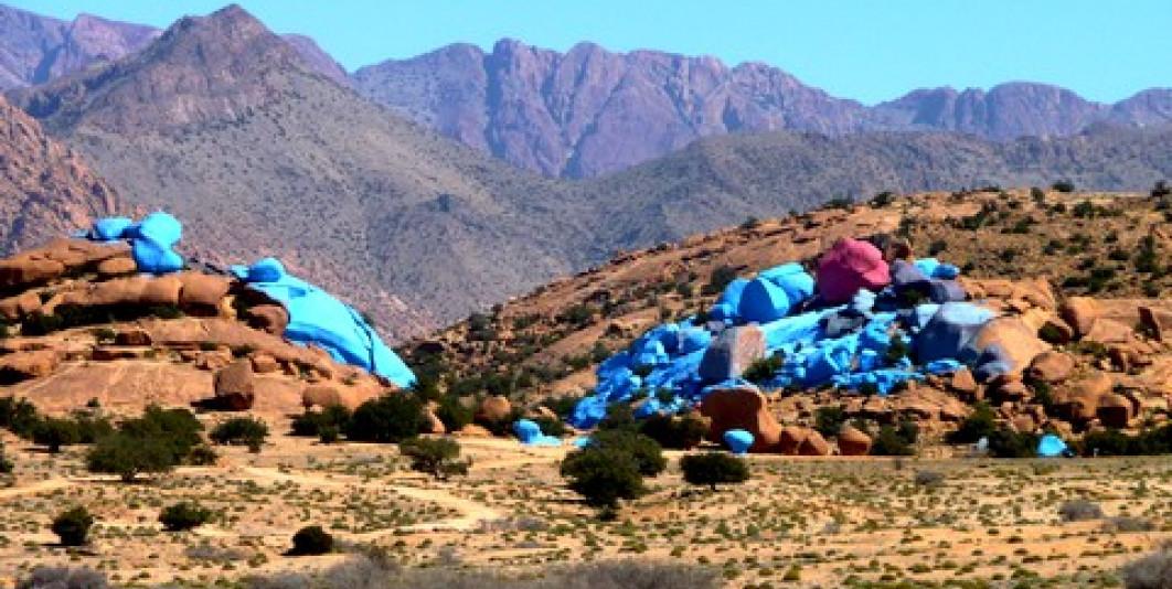 الصخور الملونة بأومركت تافراوت