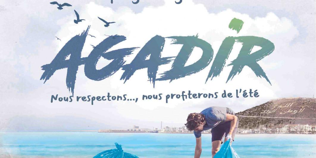 حملة تنظيف شاطئ أكادير