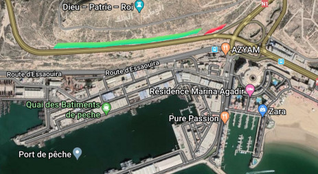 valoriser et embellir l'entrée d'Agadir coté nord